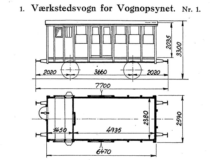 DSB Værkstedsvogn for Vognopsynet nr. 1