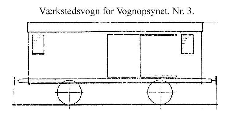 DSB Værkstedsvogn for Vognopsynet nr. 3