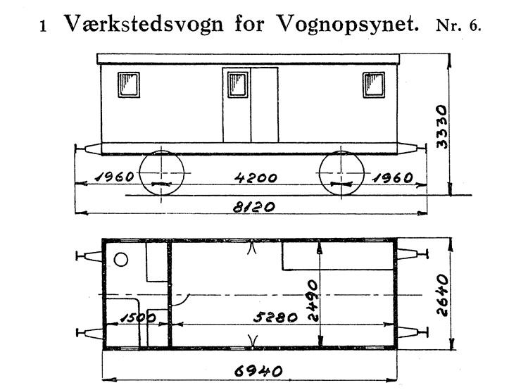 DSB Værkstedsvogn for Vognopsynet nr. 6