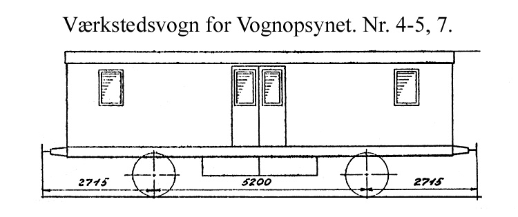 DSB Værkstedsvogn for Vognopsynet nr. 7