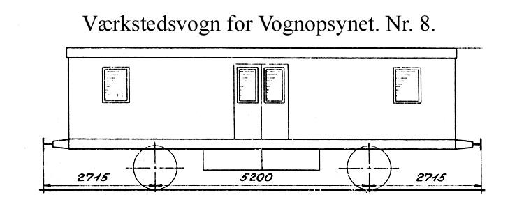 DSB Værkstedsvogn for Vognopsynet nr. 8