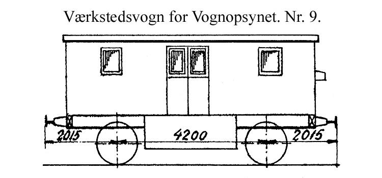 DSB Værkstedsvogn for Vognopsynet nr. 9