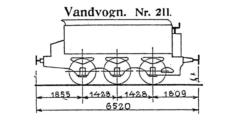 DSB Vandvogn nr. 211