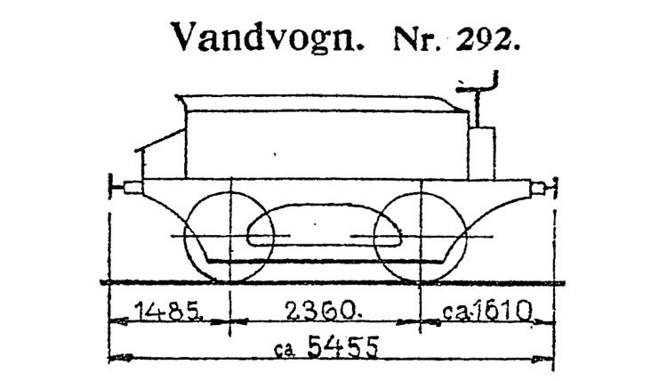 DSB Vandvogn nr. 292