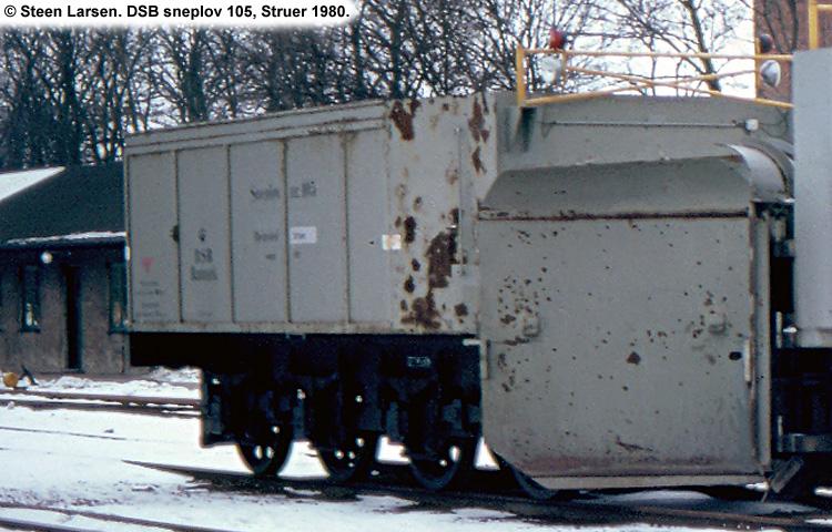 DSB Specialvogn 105<br>Sneplov