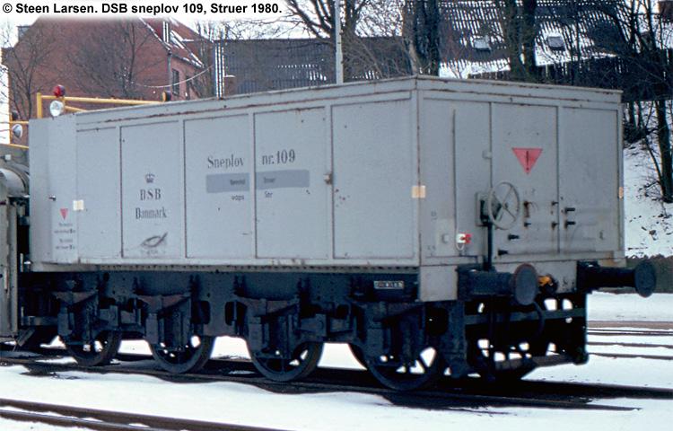 DSB Specialvogn 109<br>Sneplov