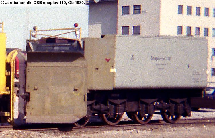 DSB Specialvogn 110<br>Sneplov