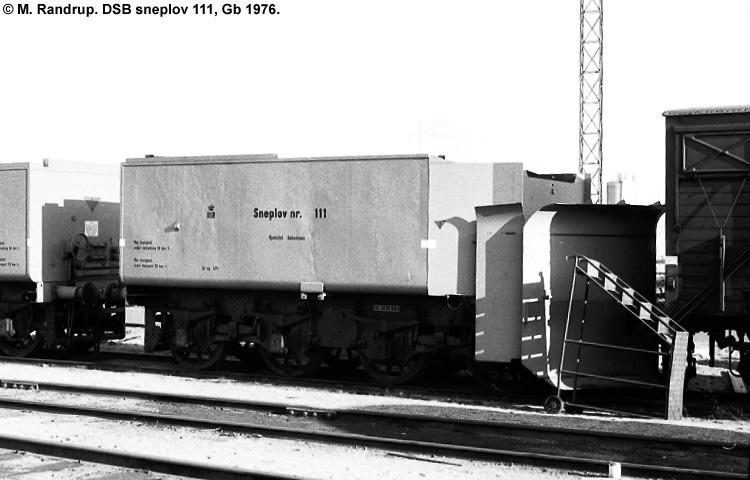 DSB Specialvogn 111<br>Sneplov