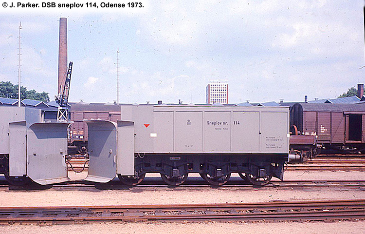 DSB Specialvogn 114<br>Sneplov