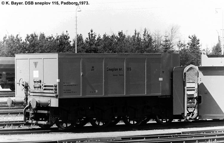 DSB Specialvogn 115<br>Sneplov