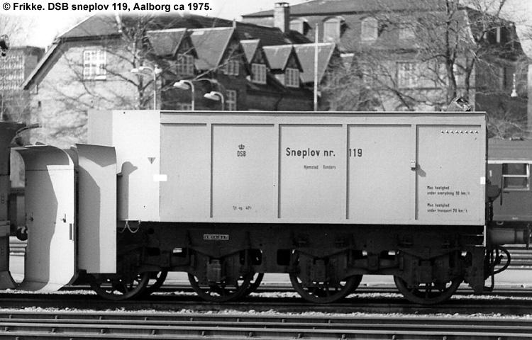 DSB Specialvogn 119<br>Sneplov
