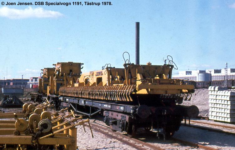 DSB Specialvogn 1191<br>Transportvogn for kranbjælke
