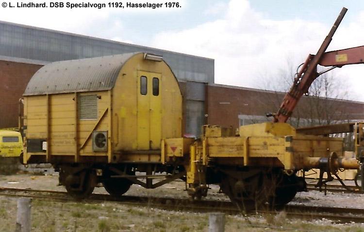 DSB Specialvogn 1192<br>Kantdozer- og skinneudlægningsvogn