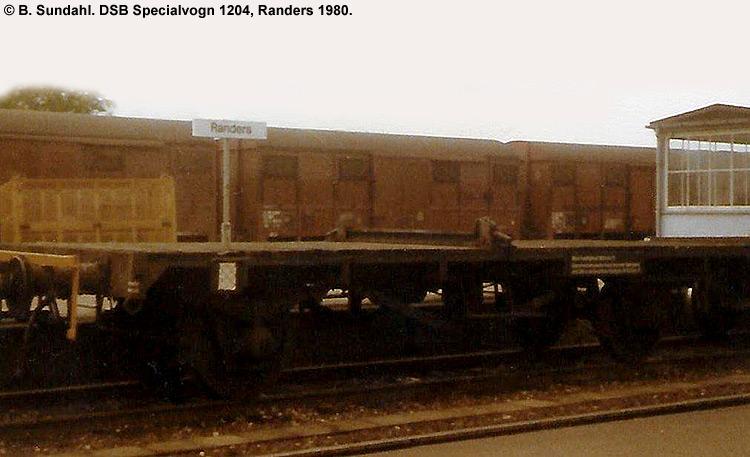 DSB Specialvogn 1204<br>Skinnetransportvogn