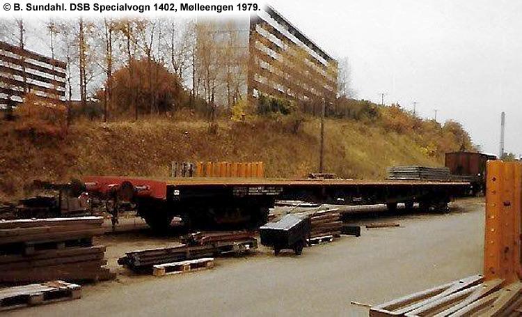 DSB Specialvogn 1402<br>Skinnetransportvogn