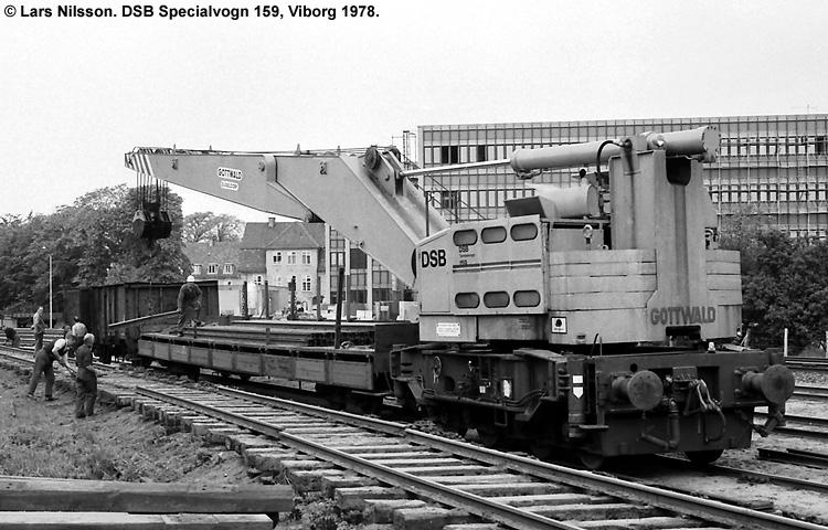 DSB Specialvogn 159<br>Skinneudlægningskran
