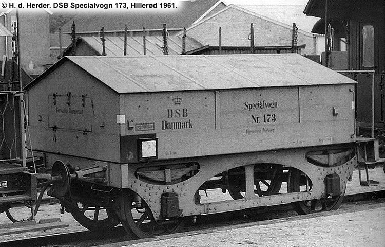 DSB Specialvogn 173<br>Brovægtsprøvevogn