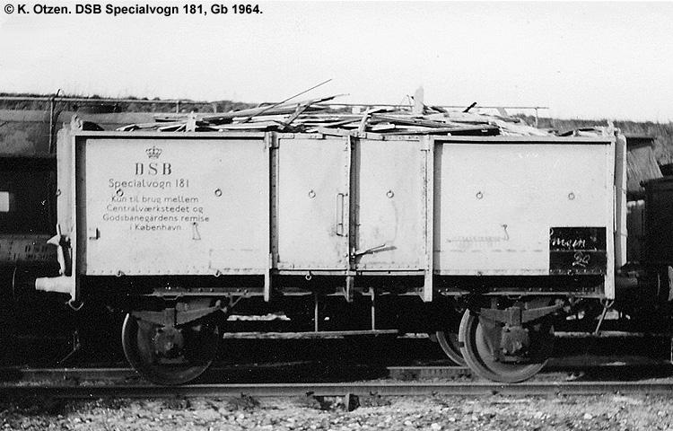 DSB Specialvogn 181<br>Brændevogn