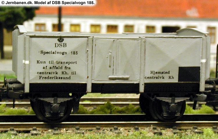 DSB Specialvogn 185<br>Brændevogn