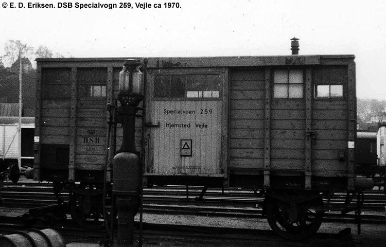 DSB Specialvogn 259<br>Bygningsvogn