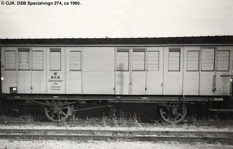 DSB Specialvogn 274<br>Bygningsvogn