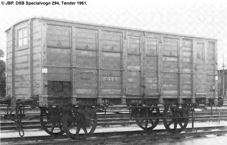 DSB Specialvogn 294<br>Bygningsvogn