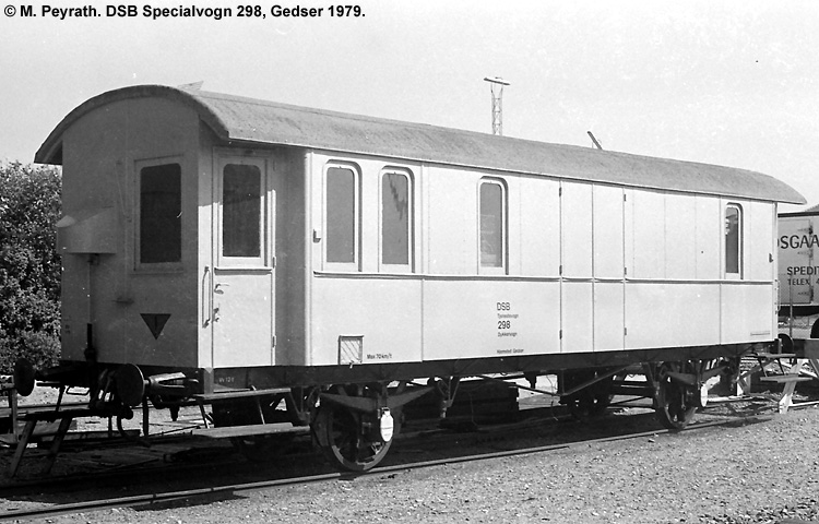 DSB Specialvogn 298<br>Bygningsvogn