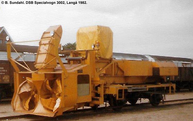 DSB Specialvogn 3002<br>Snefræser