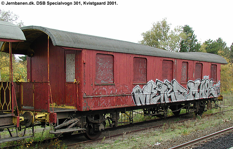 DSB Specialvogn 301<br>Bygningsvogn