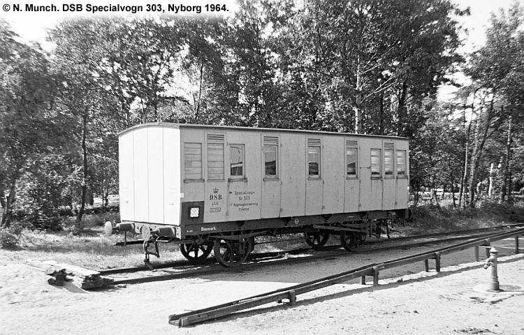 DSB Specialvogn 303<br>Bygningsvogn