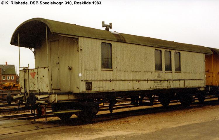 DSB Specialvogn 310<br>Værkstedsvogn for murere
