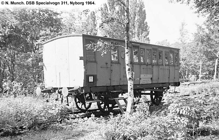DSB Specialvogn 311<br>Bygningsvogn