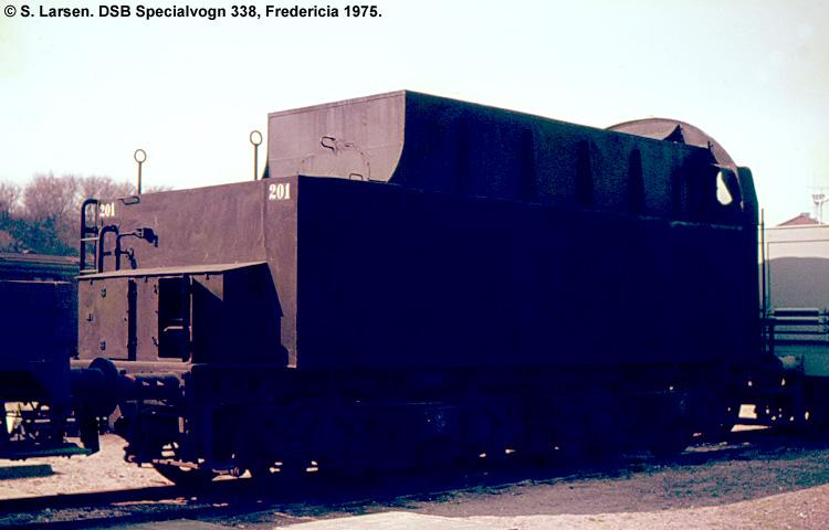 DSB Specialvogn 338<br>Belastningsvogn