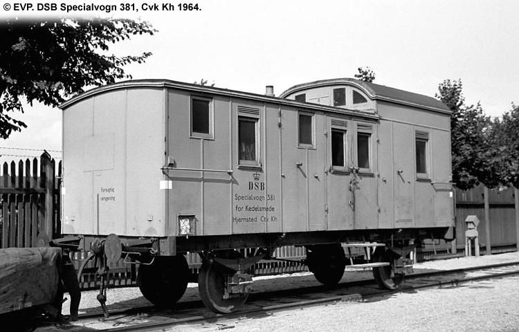 DSB Specialvogn 381<br>Værkstedsvogn for Kedelsmede