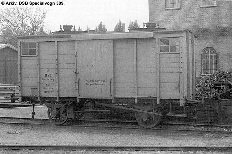 DSB Specialvogn 389<br>Kedelvogn