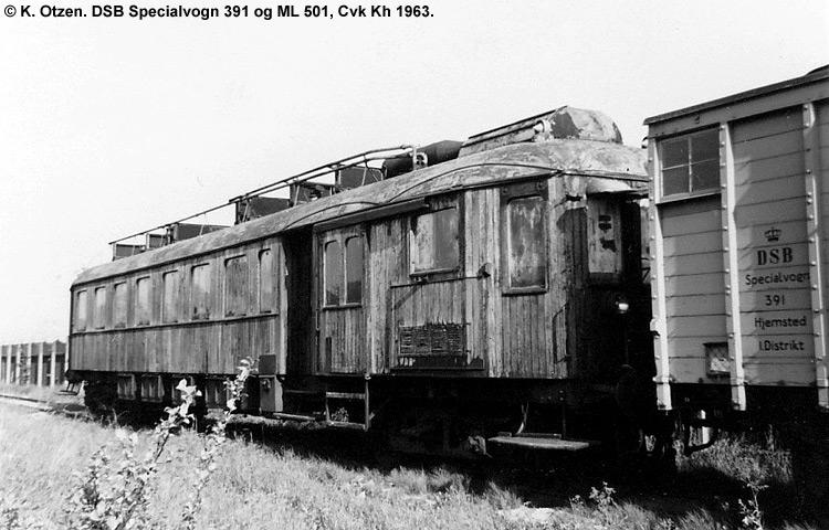 DSB Specialvogn 391<br>Kedelvogn