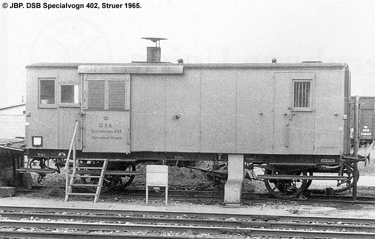 DSB Specialvogn 402<br>Togforvarmningsvogn