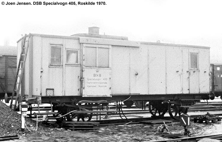 DSB Specialvogn 405<br>Togforvarmningsvogn
