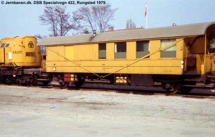 DSB Specialvogn 422<br>Værkstedsvogn for kørekran 157