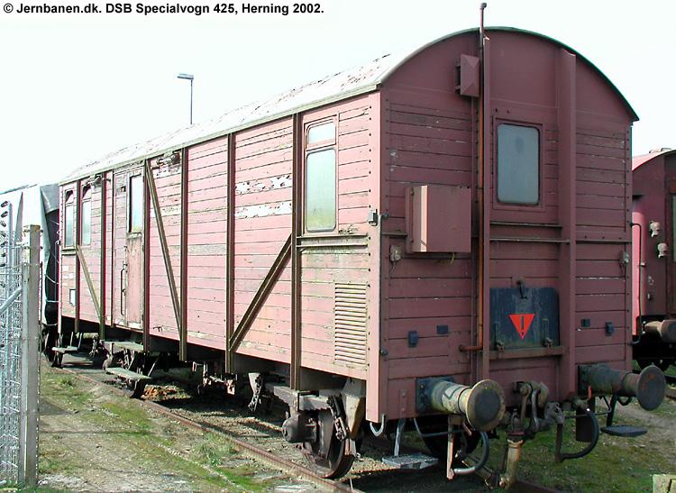 DSB Specialvogn 425<br>Værkstedsvogn for Kørekran 145