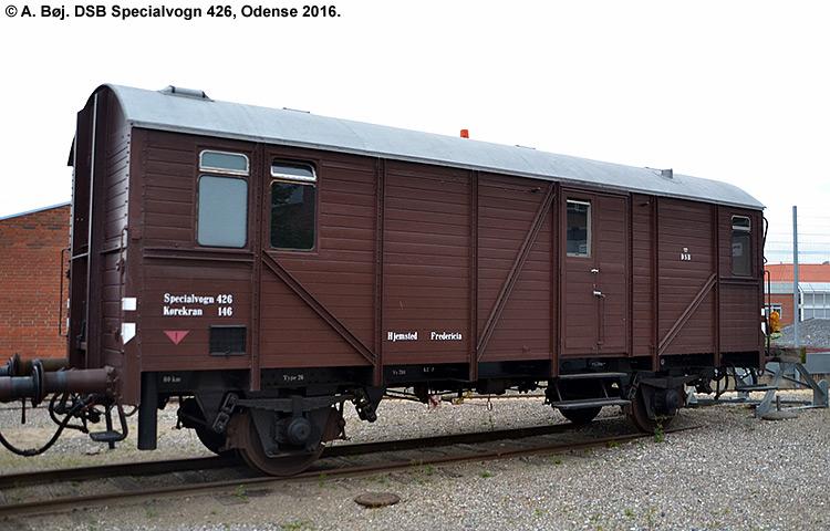 DSB Specialvogn 426<br>Værkstedsvogn for Kørekran 146