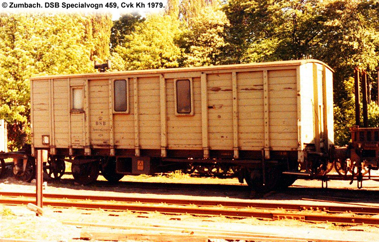 DSB Specialvogn 459<br>Værkstedsvogn for Maskinarbejdere