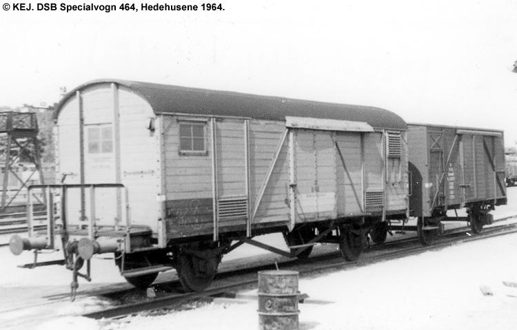 DSB Specialvogn 464<br>Værkstedsvogn for Maskintjenesten