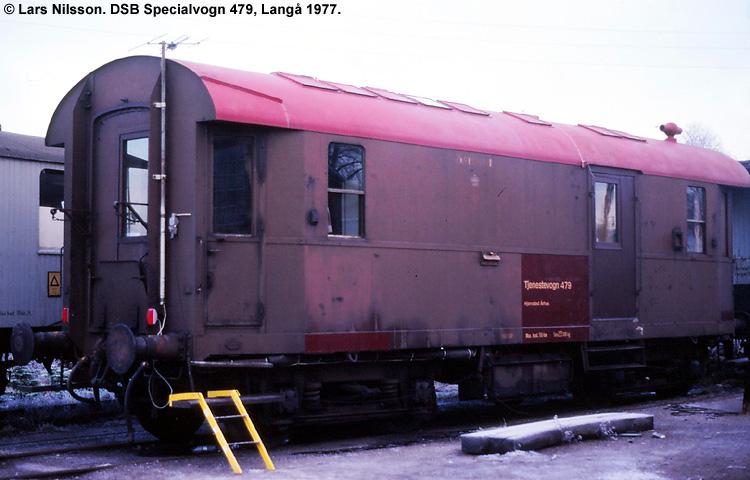 DSB Specialvogn 479<br>Mandskabsvogn for sporværktøjsdepotet