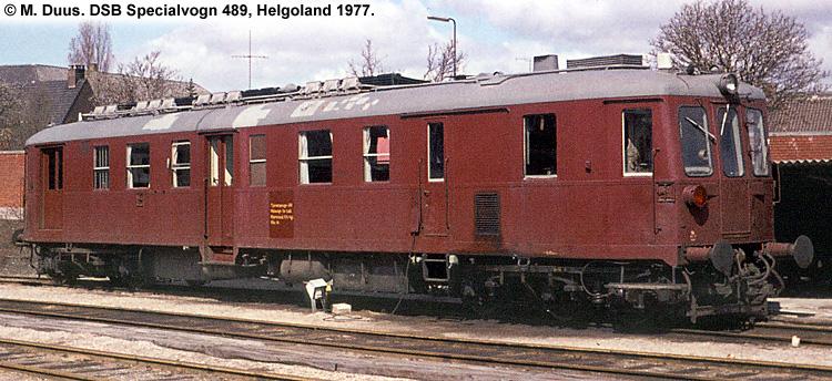 DSB Specialvogn 489<br>Målevogn for Bafd