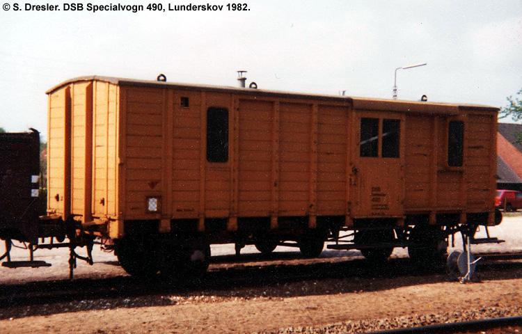 DSB Specialvogn 490<br>Opmålingsvogn