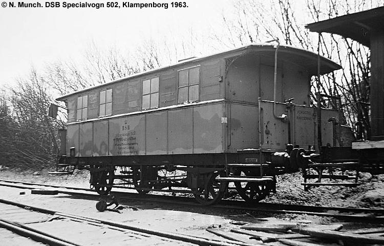 DSB Specialvogn 502<br>Værkstedsvogn for Signaltjenesten