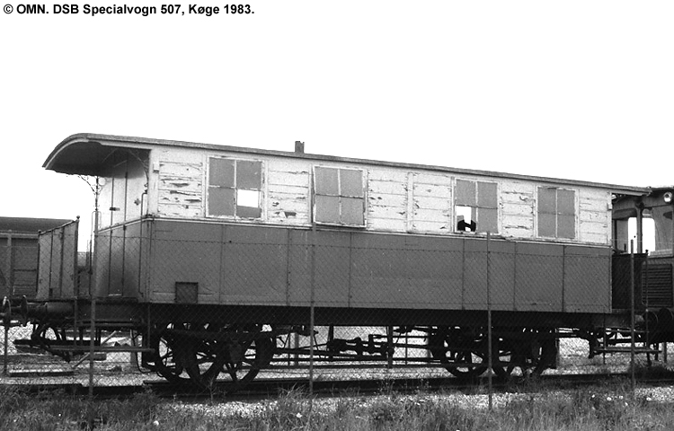 DSB Specialvogn 507<br>Værkstedsvogn for Signaltjenesten