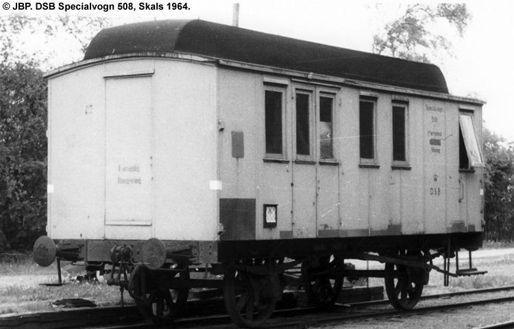 DSB Specialvogn 508<br>Værkstedsvogn for Signaltjenesten