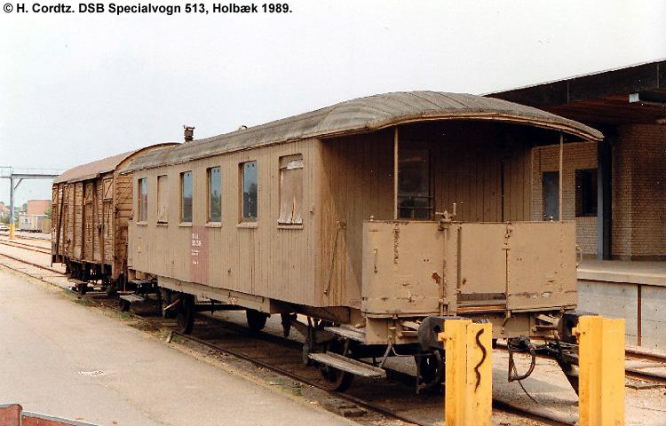 DSB Specialvogn 513<br>Værkstedsvogn for Signaltjenesten